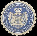 Siegelmarke Dienstsiegel I. K. H. der Frau Herzogin Max in Bayern W0310562.jpg