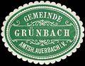 Siegelmarke Gemeinde Grünbach - Amtshauptmannschaft Auerbach im Vogtland W0253661.jpg