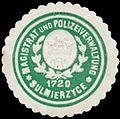 Siegelmarke Magistrat und Polizeiverwaltung Sulmierzyce W0386160.jpg