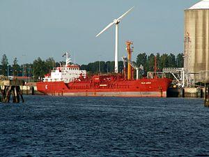 Sigas Lanrick-1 at the Calland canal, Port of Rotterdam, Holland 20-Jun-2006.jpg