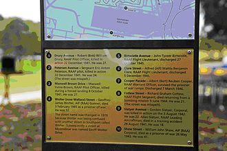 Bundall, Queensland - The Slatyer entries on the Southport Park Streets Heritage Sign