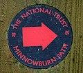Signpost, Minnowburn Path - geograph.org.uk - 1407372.jpg
