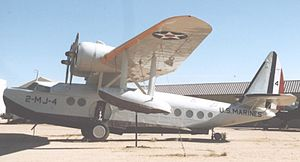 Sikorsky S-43 - Sikorsky S-43 preserved at Pima Air & Space Museum, Tucson AZ, in 2005, painted to represent a USMC JRS-1 of VMJ-2 Squadron.