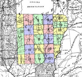 Simeon DeWitt Twenty Townships c.1792