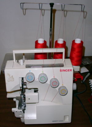Overlock - An overlock machine.