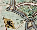 Sint-Lievenspoort en Keizerpoort, Ghent, Belgium ; Map 1649.jpg