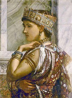 Zenobia, queen of Palmyra, by Sir Edward Poynter (1878)