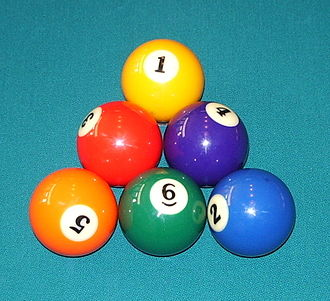 Nine-ball - Image: Six ball rack