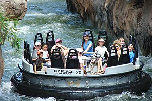 Intamin - Roaring Rapids river ride at Six Flags Over Texas (2007)