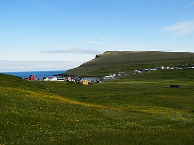 Skalavik Sandoy Faroe Islands in July 2012.JPG