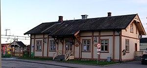 Skarnes - The railway station in Skarnes
