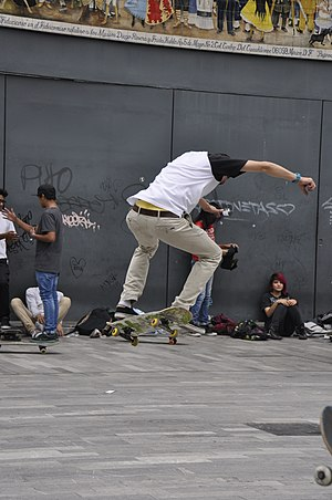 Flip trick - Image: Skateboarding at Mexico City Flip 125