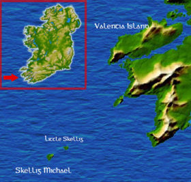 Mappa di Little Skellig