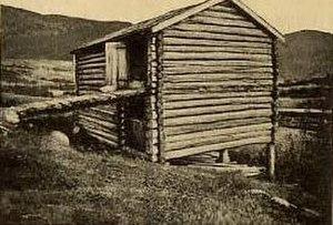 Battle of Kringen - Scottish barn Skottelåven  at Klomstad, Kvam in Oppland county, Norway