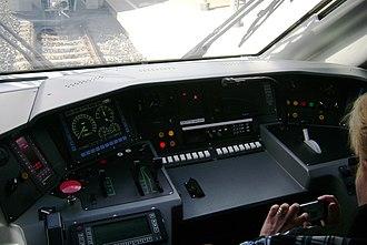 Allegro (train) - Driver's cabin