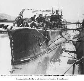 Italian submarine Berillo - RIN Berillo