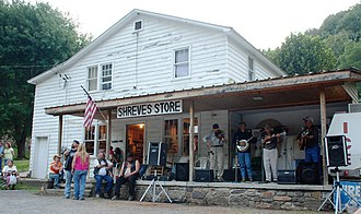 Smoke Hole Canyon - Live bluegrass music and dancing at Shreves Store