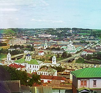 Smolensk - View of Smolensk in 1912. Early colour photograph by Sergei Prokudin-Gorskii