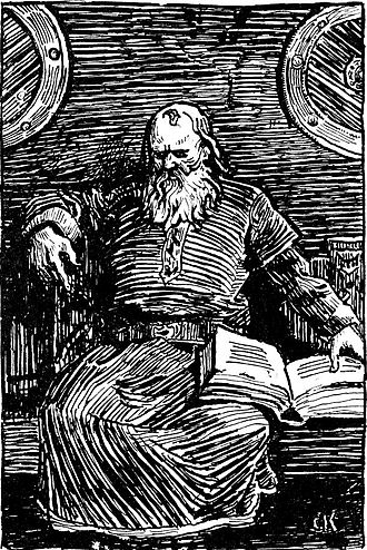 Rognvald Eysteinsson - Christian Krohg's portrait of Snorri Sturluson, 13th century compiler of the Heimskringla.
