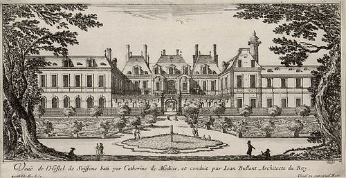 Hotel de Soissons, Eugene's birthplace. Engraving by Israel Silvestre c. 1650. Soisson.jpg