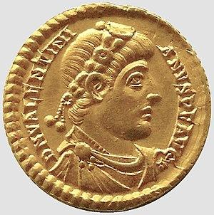 Valentinian I - Solidus of emperor Valentinian I.