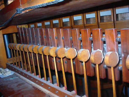 Marimba in the solo chamber at Ann Arbor's Michigan Theatre (3/13 Barton) SoloMarHarp.jpg