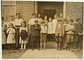 Some samples (not all) of the children in the 'Kindergarten Factory' run by the High Point and Piedmont Hosiery Mills, High Point, N.C. Every child in these photos worked- I saw them at work LOC nclc.02632.jpg