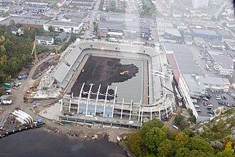 Sør Arena - Sør Arena during construction