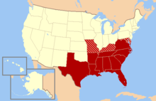 Southern United States Wikipedia - Southern us states map borders