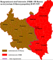 Soviet and German sphere of influence in the Second Polish Republic according to Soviet-German agreement 28 09 1939.PNG