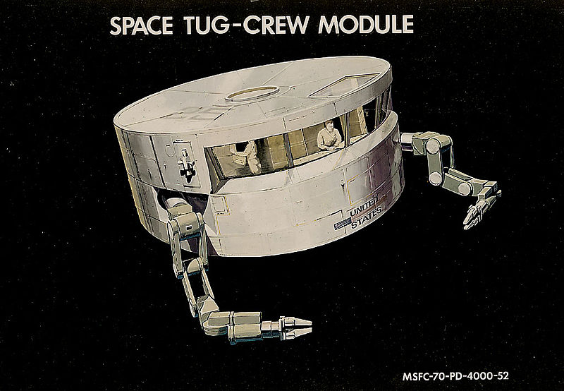 Space Tug concept, 1970s Space tug module for astronauts.jpg