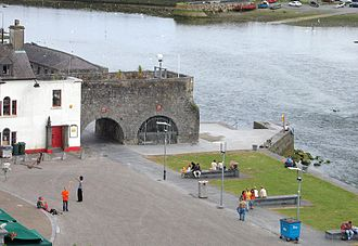 Galway City Museum - View of Comerford House and Spanish Arch beside the River Corrib