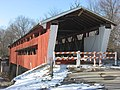 Spencerville Covered Bridge, eastern portal and southern side.jpg