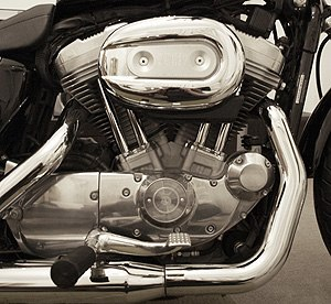 Motorcycle engine - Harley-Davidson Sportster V-twin