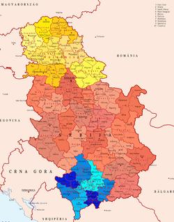 carte europe serbie