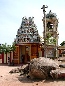 Shiva temple front gate with the bell tower