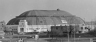 St. Louis Arena - St. Louis Arena on February 27, 1999, the day of its controlled demolition