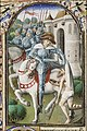 St. Martin, Bishop of Tours, gives part of his cloak to a beggar - Book of hours Simon de Varie - KB 74 G37 - 080r min.jpg