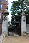 St John's College, Cambridge - Gateway and Piers Adjoining the Old Bridge.JPG
