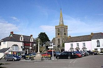 St Keverne - Image: St Keverne Village Square geograph.org.uk 1815453