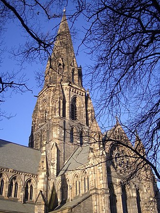 St Mary's Cathedral, Edinburgh (Episcopal) - The central spire of St Mary's Cathedral