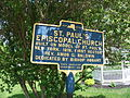 St Pauls Episcopal Church Marker Waddington NY May 11.jpg