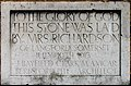 St Saviour, Finsen Road, London SE5 - Foundation stone - geograph.org.uk - 1750526.jpg