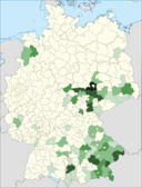 Hungarians in Germany (according to the 2014 census)