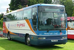 Stagecoach Group - Stagecoach in South Wales Plaxton Expressliner bodied Volvo B10M in July 2008