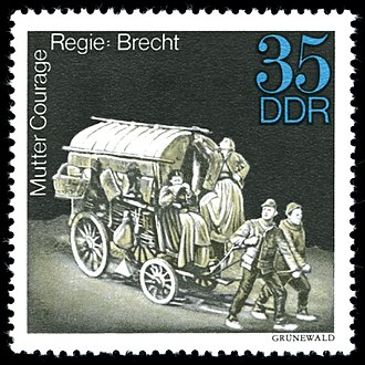 Mother Courage and Her Children - Stamp commemorating the Berliner Ensemble production