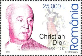 Christian Dior - Christian Dior on a 2005 Romanian stamp