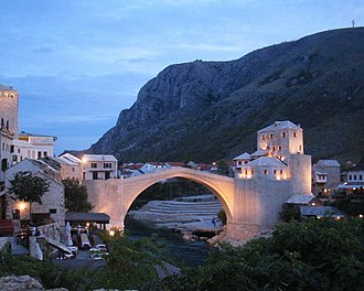 Tourism in Bosnia and Herzegovina - Stari Most in Mostar, a UNESCO World Heritage Site