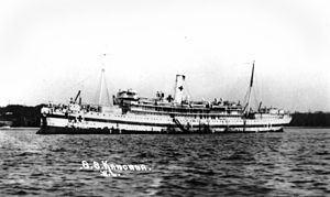 TSS Kanowna - Kanowna in hospital ship livery