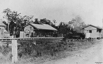 Cooroy railway station - Cooroy railway station in 1911